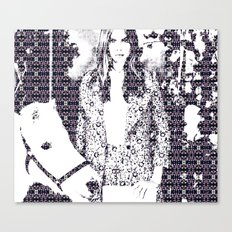 Cara and her Horse Canvas Print