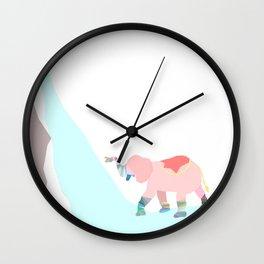 elephant shower Wall Clock