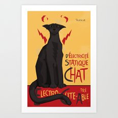 d'Electricité Statique Chat [Staticat] Art Print