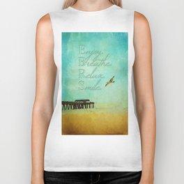 Enjoy Breathe Relax Smile ~ Tybee Island Pier ~ Ginkelmier Inspired Biker Tank