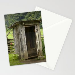 Old Outhouse on a Farm in the Smokey Mountains Stationery Cards