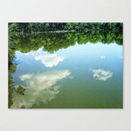 Cloud Reflections off of the Blackhawk Bridge Canvas Print