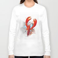 lobster Long Sleeve T-shirts featuring Lobster!!!!!!!!!!! by Rococco-LA