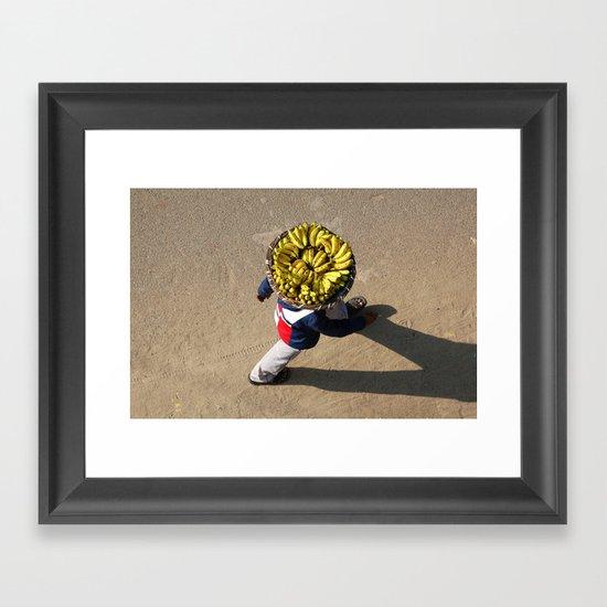 Banana Man Framed Art Print