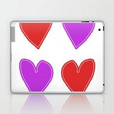 Red and Purple Hearts - 4 hearts Laptop & iPad Skin