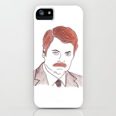 Ron Swanson  iPhone (5, 5s) Slim Case