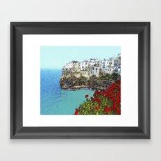 village on the sea Framed Art Print