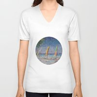 cuba V-neck T-shirts featuring Cuba by Juliana Kroscen