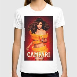 Vintage Campari Orange Lithograph Advertisement T-shirt