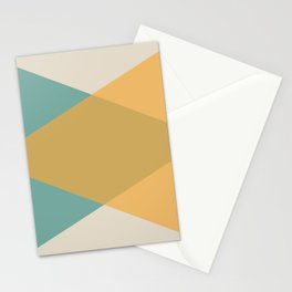 Mid Century - Yellow and Blue Stationery Cards