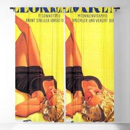 1939 Keokrem German Skincare Suntan Lotion Vintage Advertising Poster  Blackout Curtain