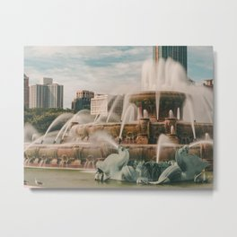 Fountain View 3 Metal Print
