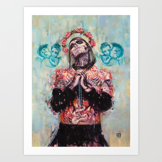 Portrait of Rick Genest aka Zombie Boy Art Print
