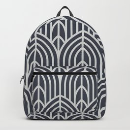 Luxe Luxurious Black And White Elegant Art Deco Pattern Backpack