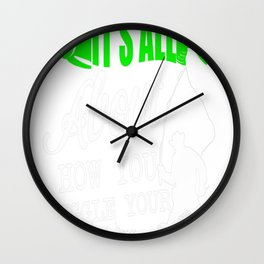 HOW YOU WIGGLE YOUR WORM Wall Clock