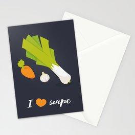 I love soupe Stationery Cards