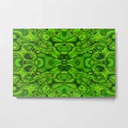 Greeny pattern Metal Print