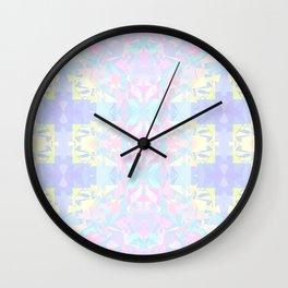 Pastel Triangles 2 Wall Clock