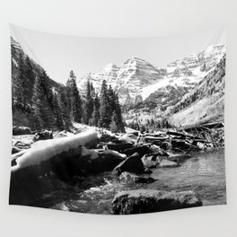 Maroon Bells Mountains Colorado Wall Tapestry