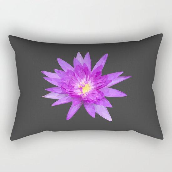 purple lotus flower Rectangular Pillow