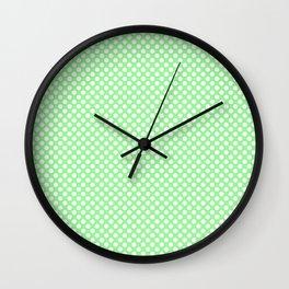 Polka Dots Pattern-Green Wall Clock