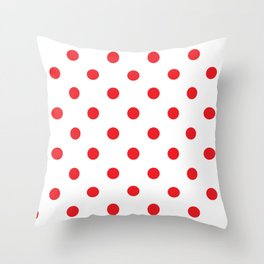 Polka dot fabric Retro vector background or pattern Throw Pillow
