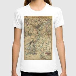 Vintage Savannah Georgia Civil War Map (1864) T-shirt