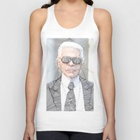 karl lagerfeld Tank Tops featuring ICONS: Karl Lagerfeld by LeeandPeoples