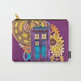 Colorful TARDIS Art Carry-All Pouch