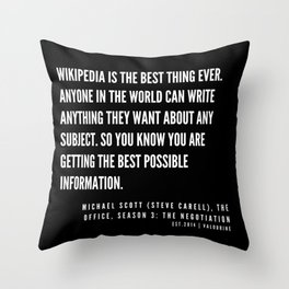 9 |  Office Quote Series  | 190611 Throw Pillow