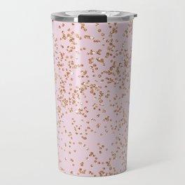 Rose gold diamond confetti Travel Mug