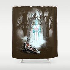 The Fallen Templar Shower Curtain
