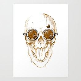 Skull Coffee Art Print