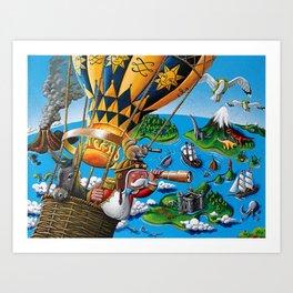 The Balloon Adventure Art Print