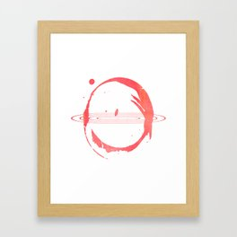 Red Hypnose Framed Art Print