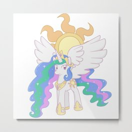 Princess Celestia Cutie Mark Charm Metal Print