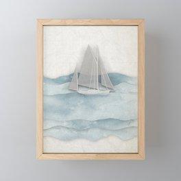 Floating Ship Framed Mini Art Print
