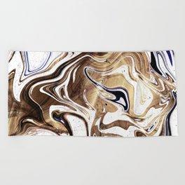 Liquid Bronze and Marble Beach Towel