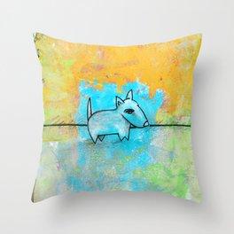 Dog No.1j by Kathy Morton Stanion Throw Pillow