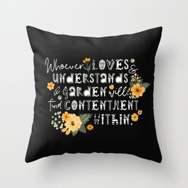Garden Whispers Throw Pillow