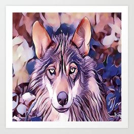 The Iberian Wolf Art Print