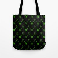 antlers Tote Bags featuring Antlers by idontfindyouthatinteresting