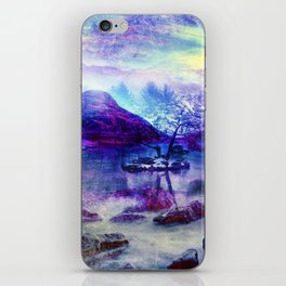Abstract Winter Lake iPhone Skin