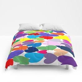 Random hearts Comforters