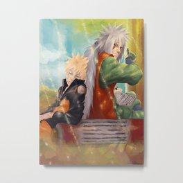 Naruto & Jiraya Metal Print