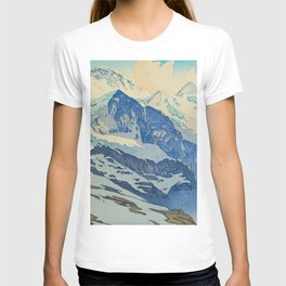 The Jungfrau Vintage Beautiful Japanese Woodblock Print Hiroshi Yoshida T-shirt
