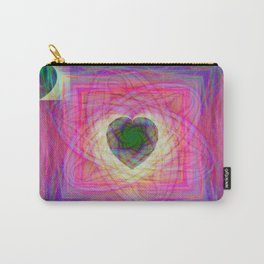 Sacred Geometry Art- Fractal Art- Abstract Art- Helix- Torus- Double Yum Carry-All Pouch