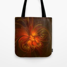 Burning, Abstract Fractal Art With Warmth Tote Bag