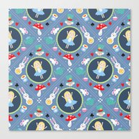 alice wonderland Canvas Prints featuring Wonderland by Emily Golden