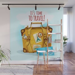 Travel Concept With Suitcase Wall Mural